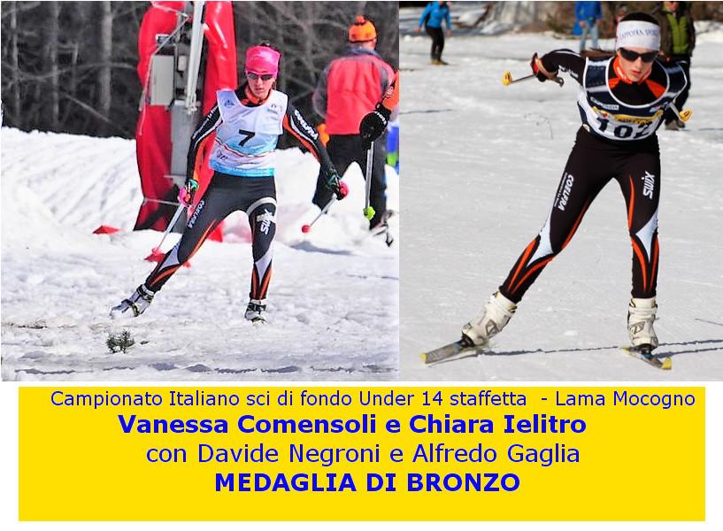 Chiara e Vanessa medaglia di bronzo