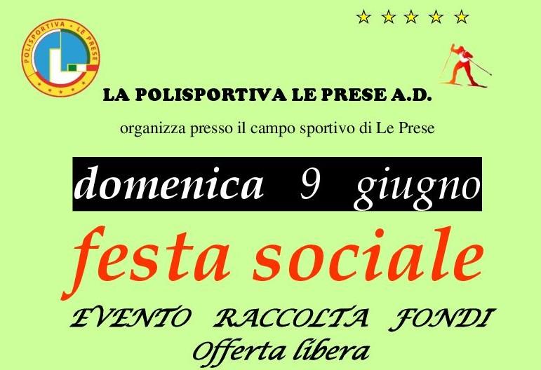 Festa sociale – raccolta fondi